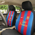 Futbol Club Barcelona Universal Auto Car Seat Cover Sandwich Full Set 12pcs - Blue Red