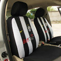 Futbol Club Juventus Universal Auto Car Seat Cover Sandwich Full Set 12pcs - White+Black