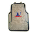 Honda Logo Universal Automobile Carpet Car Floor Mats Set Rubber+PVC 5pcs Sets - Beige