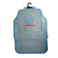 Honda Logo Universal Automobile Carpet Car Floor Mats Set Rubber+PVC 5pcs Sets - Gray