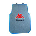 Kappa Logo Universal Automobile Carpet Car Floor Mats Set Rubber 5pcs Sets - Blue