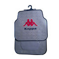 Kappa Logo Universal Automobile Carpet Car Floor Mats Set Rubber 5pcs Sets - Grey