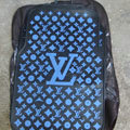 LV Universal Automobile Carpet Car Floor Mats Set Rubber Floral Louis Vuitton 5pcs Sets - Blue