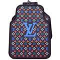 LV Universal Automobile Carpet Car Floor Mats Set Rubber Louis Vuitton 5pcs Sets - Blue
