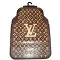 LV Universal Automobile Carpet Car Floor Mats Set Rubber Louis Vuitton 5pcs Sets - Brown