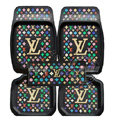 LV Universal Automobile Carpet Car Floor Mats Set Rubber Louis Vuitton 5pcs Sets - Multicolor