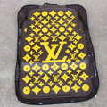 LV Universal Automobile Carpet Car Floor Mats Set Rubber Louis Vuitton 5pcs Sets - Yellow