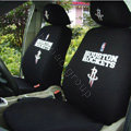 NBA Houston Rockets Universal Auto Car Seat Cover Cotton Full Set 10pcs - Black