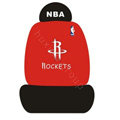 NBA Houston Rockets Universal Auto Car Seat Cover Cotton Full Set 10pcs - Red Black