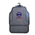 Nissan Logo Universal Automobile Carpet Car Floor Mats Set Rubber+PVC 5pcs Sets - Gray
