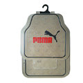 Puma Logo Universal Automobile Carpet Car Floor Mats Set Rubber 5pcs Sets - Beige+Black