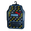Puma Logo Universal Automobile Carpet Car Floor Mats Set Rubber 5pcs Sets - Black+Yellow
