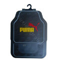 Puma Logo Universal Automobile Carpet Car Floor Mats Set Rubber 5pcs Sets - Black