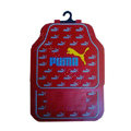 Puma Logo Universal Automobile Carpet Car Floor Mats Set Rubber 5pcs Sets - Red