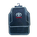 Toyota Logo Universal Automobile Carpet Car Floor Mats Set Rubber+PVC 5pcs Sets - Black