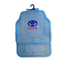 Toyota Logo Universal Automobile Carpet Car Floor Mats Set Rubber+PVC 5pcs Sets - Blue