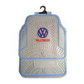 Volkswagen Logo Universal Automobile Carpet Car Floor Mats Set Rubber+PVC 5pcs Sets - Gray