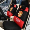 OULILAI Manchester United Universal Automobile Car Seat Cover Sandwich 18pcs - Red+Black