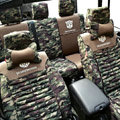 Transformers Autobot Customized Camo Auto Car Seat Covers 10pcs Sets for Vehicle - Green