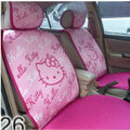 Universal Hello Kitty Car Seat Cover Plush Auto Cushion 7pcs Sets - Pink