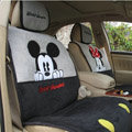 Universal Minnie Mickey Mouse Car Seat Cover Plush Auto Cushion 7pcs Sets - Gray+Black