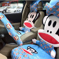 Universal Paul Frank Car Seat Cover Plush Auto Cushion 12pcs Sets - Blue