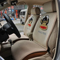 Universal Paul Frank Car Seat Cover Plush Auto Cushion 7pcs Sets - Beige