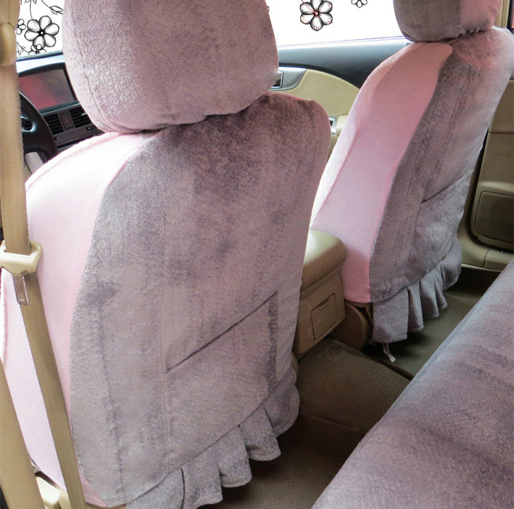 Pink And Gray Universal Seat Covers