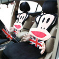 Universal Plush Paul Frank Car Seat Cover Auto Cushion 12pcs Sets - Black