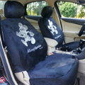 Universal Plush Velvet Mickey Mouse Auto Car Seat Cover 18pcs Sets - Black