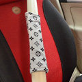 Cheapest LV Velvet Automotive Seat Safety Belt Covers Car Decoration 2pcs - Gray