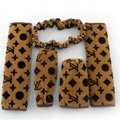 Classic Hot Sell LV Velvet Car Inner Automotive Decoration Sets 5pcs - Brown