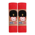 Cool Cartoon MR ALI Velvet Automotive Seat Safety Belt Covers Car Decoration 2pcs - Red+Brown