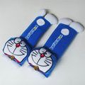 Cool Doraemon Velvet Automotive Seat Safety Belt Covers Car Decoration 2pcs - Blue