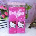 Cute Bowknot Hello Kitty Velvet Automotive Seat Safety Belt Covers Car Decoration 2pcs - Rose