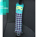 Cute Cartoon Carinono Cats Velvet Automotive Seat Safety Belt Covers Car Decoration 2pcs - Green