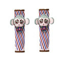 Cute Cartoon Twill Carinono Monkey Velvet Automotive Seat Safety Belt Covers Car Decoration 2pcs - Green