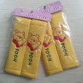 Cute Cartoon Winnie the Pooh Velvet Automotive Seat Safety Belt Covers Car Decoration 2pcs - Yellow