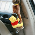 Cute Winnie the Pooh Velvet Automotive Seat Safety Belt Covers Car Decoration 2pcs - Yellow