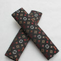 High Quality Canvas Cloth LV print Auto Seat Safety Belt Covers Car Decoration 2pcs - Black