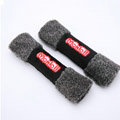 High Quality Monlill Plush Automotive Seat Safety Belt Covers Car Decoration 2pcs - Black