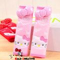 Pretty Bowknot Hello Kitty Velvet Automotive Seat Safety Belt Covers Car Decoration 2pcs - Pink