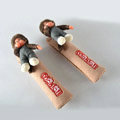 Pretty Monchhichi Velvet Automotive Seat Safety Belt Covers Car Decoration 2pcs - Beige