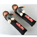 Pretty Monchhichi Velvet Automotive Seat Safety Belt Covers Car Decoration 2pcs - Black