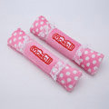 Pretty Monlill Polka dot Velvet Automotive Seat Safety Belt Covers Car Decoration 2pcs - Pink