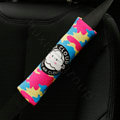 Unique Cartoon Mr Cloud Velvet Automotive Seat Safety Belt Covers Car Decoration 2pcs - Multicolor