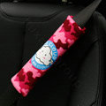 Unique Cartoon Mr Cloud Velvet Automotive Seat Safety Belt Covers Car Decoration 2pcs - Rose