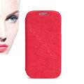 Nillkin leather Cases Holster Skin Cover for Samsung Galaxy S5 i9600 - Red (High transparent screen protector)