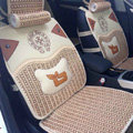 Best Chrome Hearts Summer Ice Silk Universal Autos Car Seat Covers - Gold