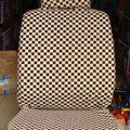 Best LV Louis Vuitton Universal Auto Car Seat Cover Sets Cotton Velvet 10pcs - Beige